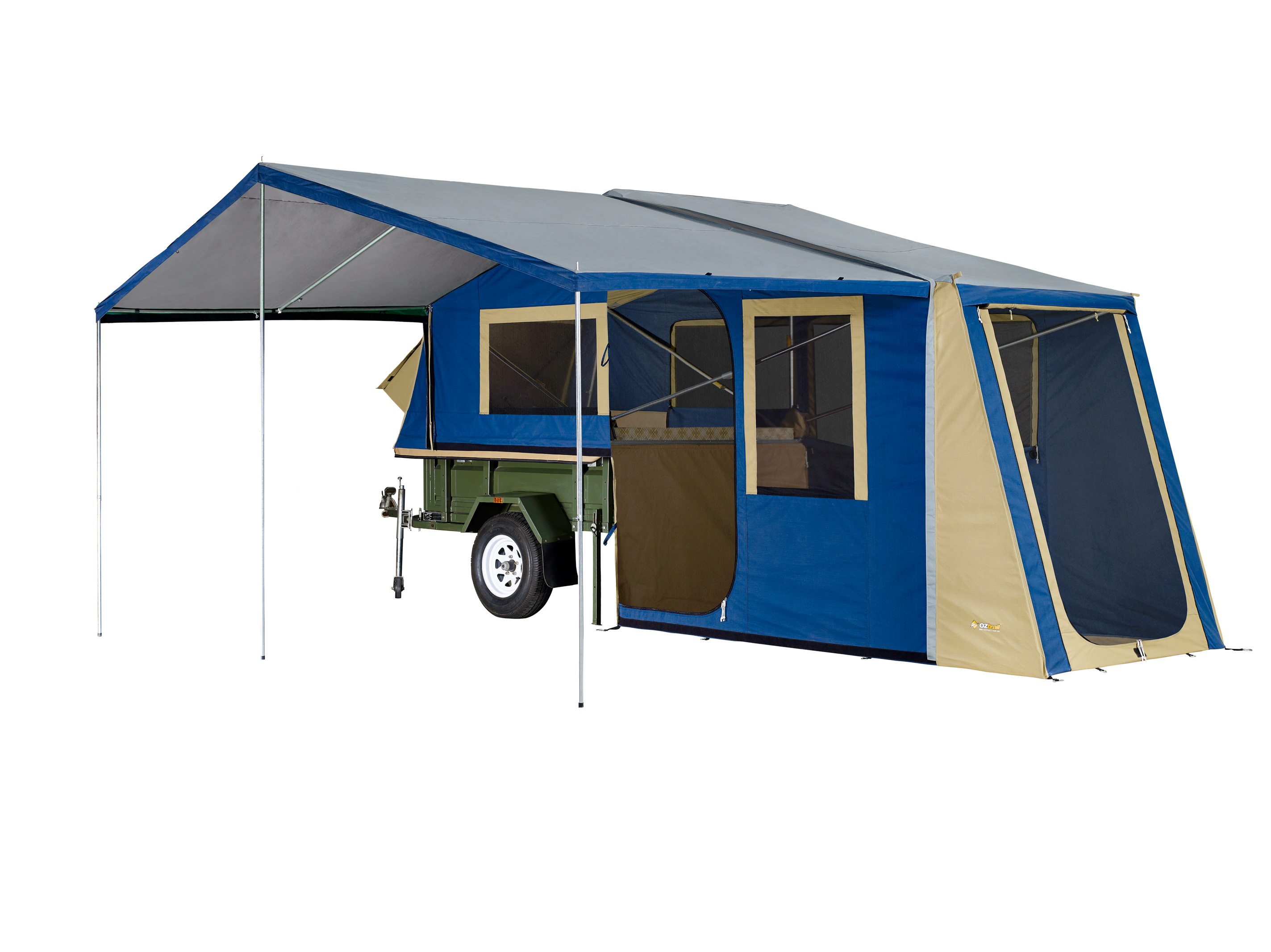 Oztrail Outer Ridge Scout Canvas Camper Trailer Top Cabin
