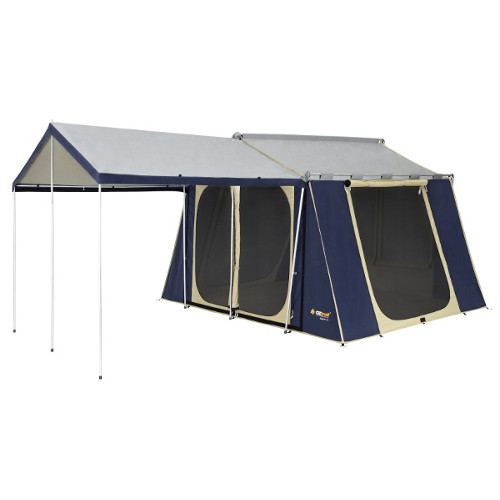 Oztrail 12x9 New Canvas Cabin Tent 2 Room Family Tents