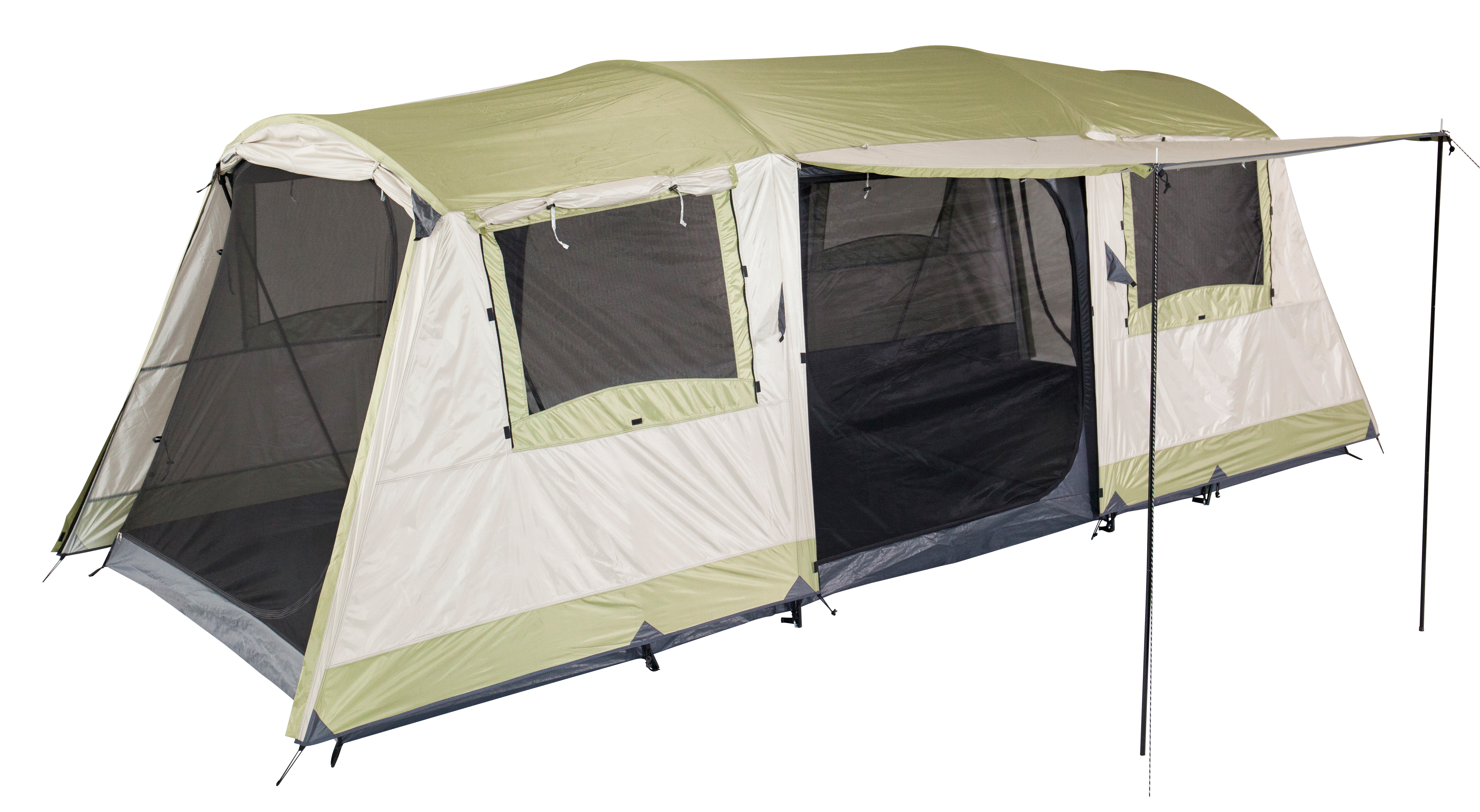 OZTRAIL BUNGALOW 9 DOME TENT FAMILY CAMPING (3 ROOM) 9P ...
