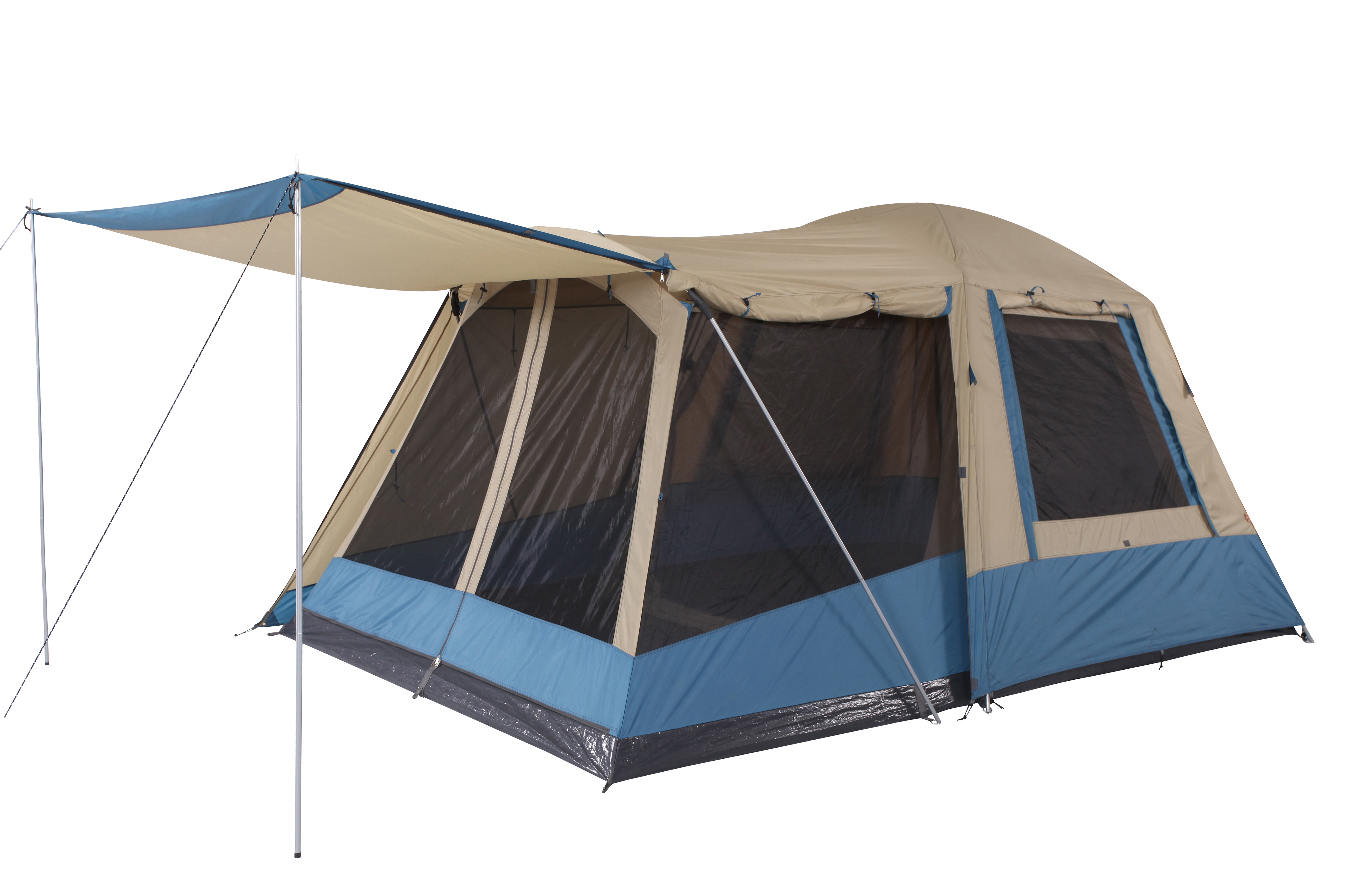 Oztrail family 6 dome tent 2 room 6 person spacious for Small 3 room tent